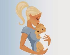 Dibujo Madre y Bebe 8